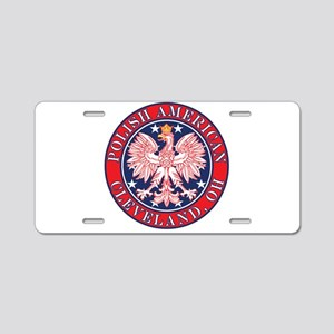 Cleveland Ohio Polish Aluminum License Plate