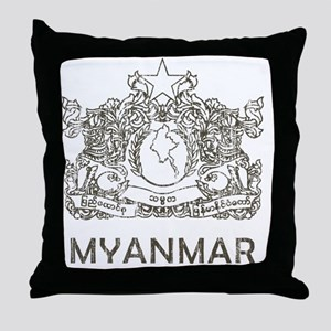 VintageMyanmar2 Throw Pillow