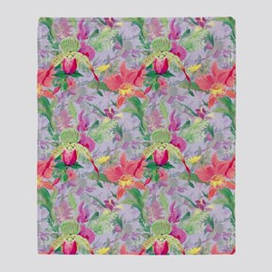 beautifulfloralsipads Throw Blanket