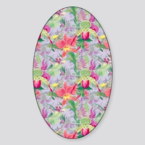 beautifulfloralsipads Sticker (Oval)