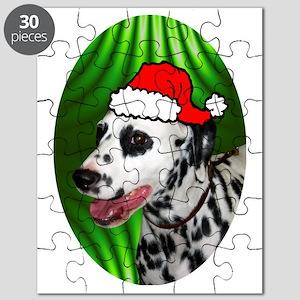 dalmatianxmas-oval Puzzle