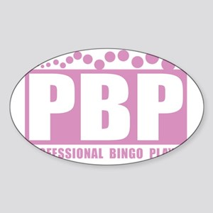 profbingoplayer_pink Sticker (Oval)