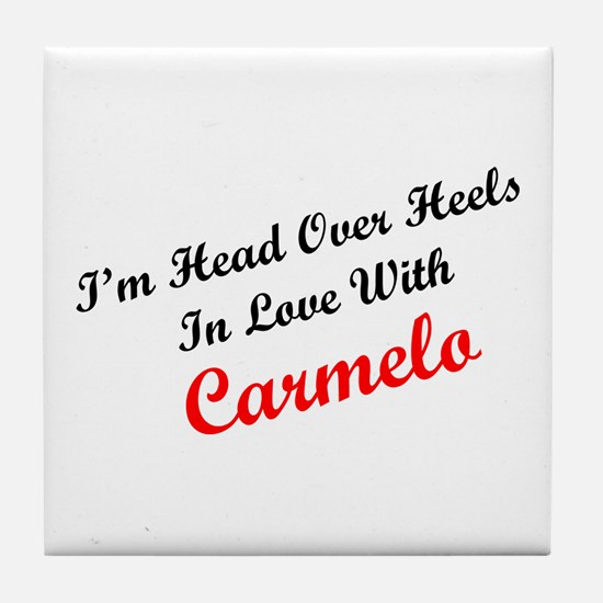 In Love with Carmelo Tile Coaster