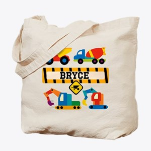 Customized Construction Vehicles Tote Bag