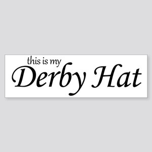 derby_hat Sticker (Bumper)