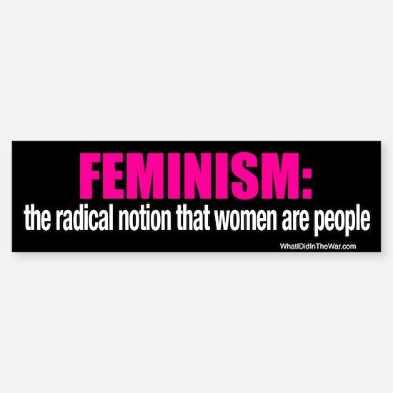 Feminism Bumper Bumper Bumper Sticker