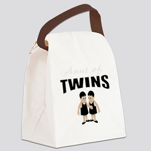 cute aunt of twin girls Canvas Lunch Bag