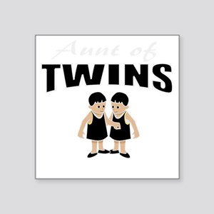 "cute aunt of twin girls Square Sticker 3"" x 3"""