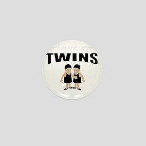 cute aunt of twin girls Mini Button