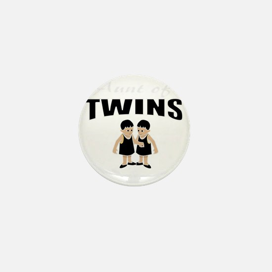 cute aunt of twin girls Mini Button