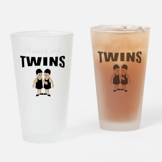 cute aunt of twin girls Drinking Glass
