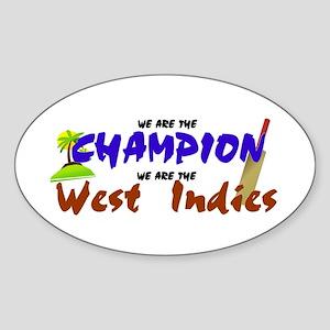 Champion West Indies Oval Sticker