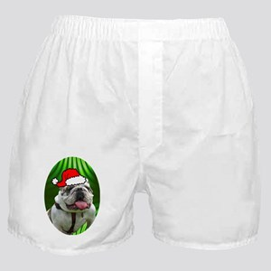 bulldogxmas-oval Boxer Shorts
