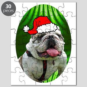 bulldogxmas-oval Puzzle