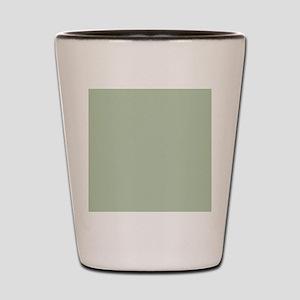 Shower Painted Circles plain leaf green Shot Glass
