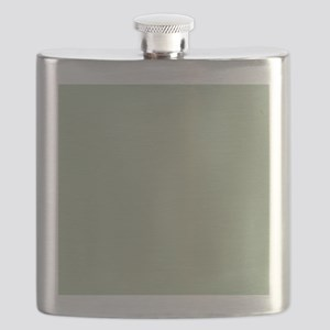 Shower Painted Circles plain leaf green Flask