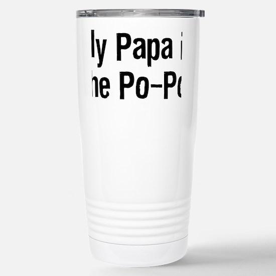PapaPoPoTeeBlack Stainless Steel Travel Mug