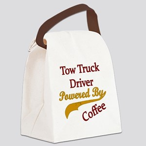 tow  Powered by coffee Canvas Lunch Bag