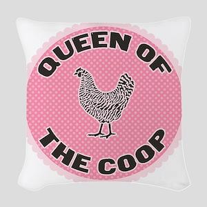 queen-1 Woven Throw Pillow