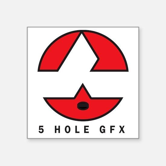 "5 Hole GFX Logo Square Sticker 3"" x 3"""