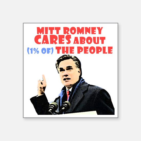 """Romney for the 1% Square Sticker 3"""" x 3"""""""