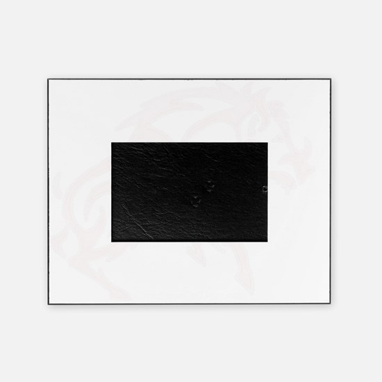 WhiteTribal Boar invis background Picture Frame