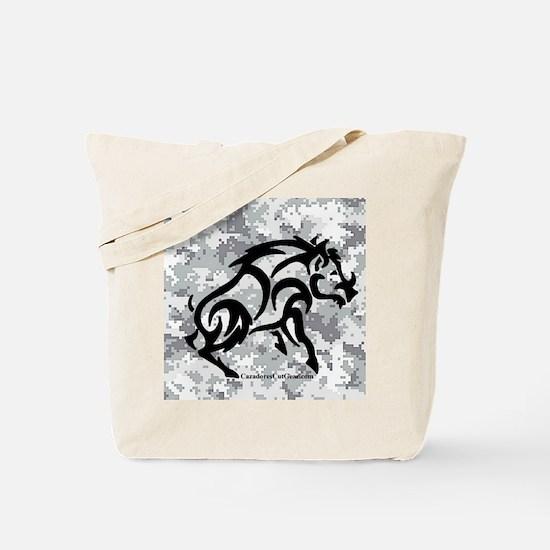 Digital Camo boar Tote Bag