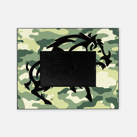 woodland Camo blk boar Picture Frame