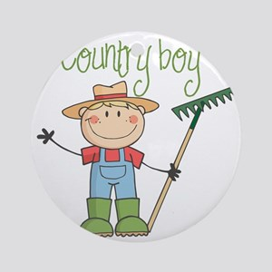 country boy Round Ornament