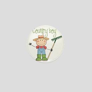 country boy Mini Button