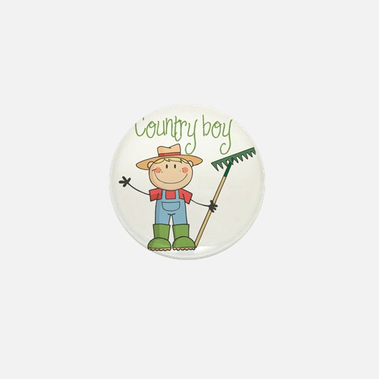 country boy Mini Button