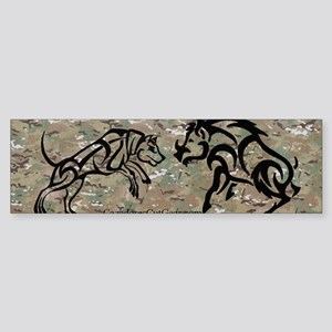 multicam tribal boar and dog bump Sticker (Bumper)