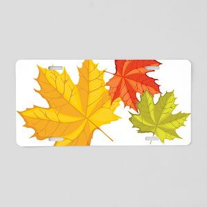 Fall Leaves Aluminum License Plate