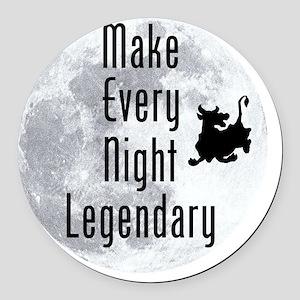 Legendary-Night Round Car Magnet