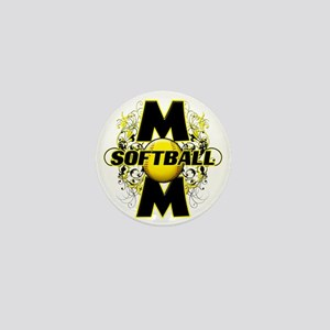 Softball Mom (cross) copy Mini Button