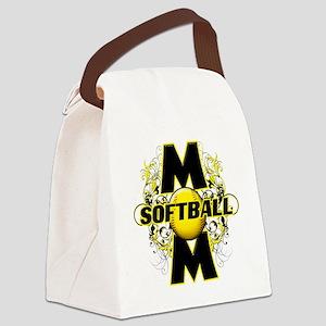Softball Mom (cross) copy Canvas Lunch Bag