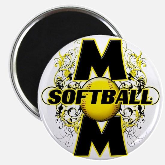 Softball Mom (cross) copy Magnet