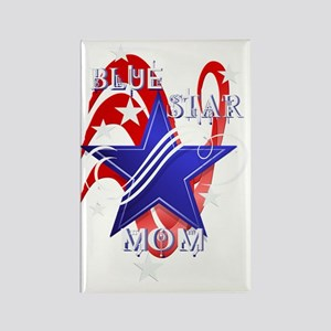 Fancy Blue Star Mom-Trans Rectangle Magnet