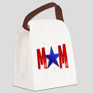 MOM blue star-Trans Canvas Lunch Bag