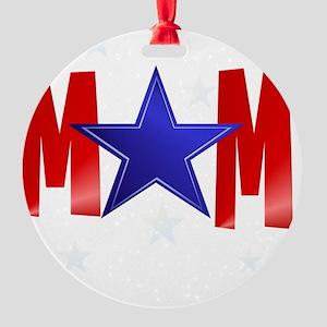 MOM blue star-Trans Round Ornament
