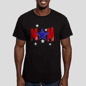 MOM blue star-Trans Men's Fitted T-Shirt (dark)