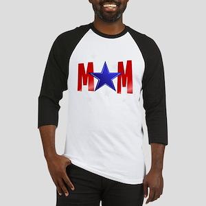 MOM blue star-Trans Baseball Jersey