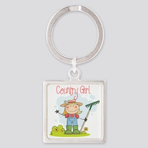 country girl Square Keychain