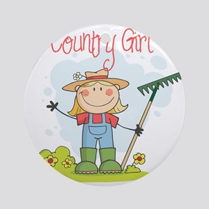 country girl Round Ornament