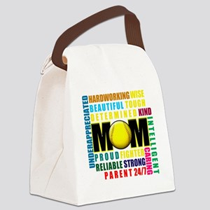 What is a Softball Mom copy Canvas Lunch Bag