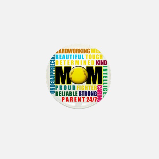 What is a Softball Mom copy Mini Button