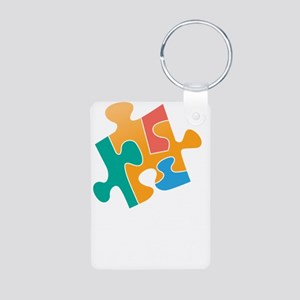 think differently back Aluminum Photo Keychain