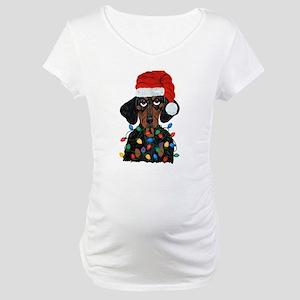 Dachshund Sanata Ta... Maternity T-Shirt