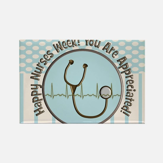 CP happy nurses week chocolate bl Rectangle Magnet