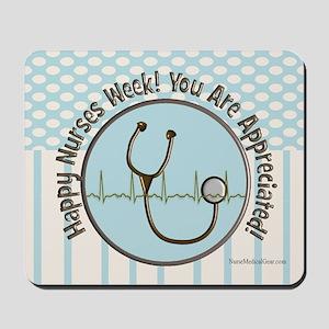 CP happy nurses week chocolate blue Mousepad